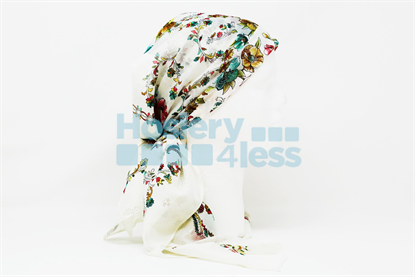 Picture of MULTI COLOR SPARKLE FLOWER PRINT HEADSCARF