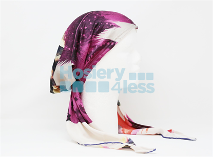 Picture of SILK FEATHER PRINT PRETIED
