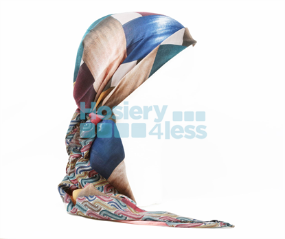 Picture of SQUARE 2 PRINT HEADSCARF