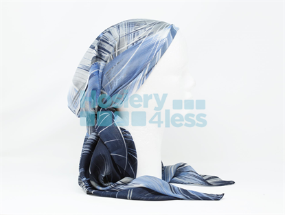 Picture of BLUE FEATHER PRINT HEADSCARF