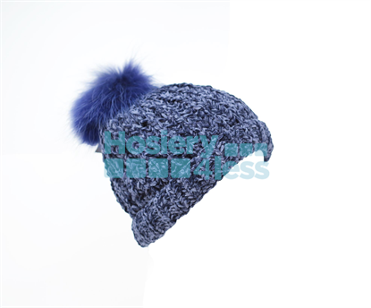 Picture of CHENILLE POM POM KNIT HAT
