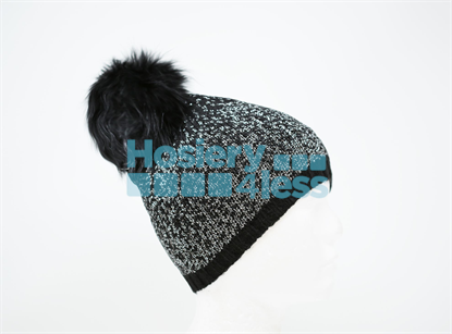 Picture of OMBRE LUREX POM POM HAT