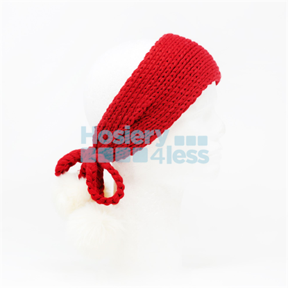 Picture of SOLID KNIT POM POM EAR WARMER TAILS