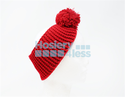 Picture of SOLID KNIT POM POM EAR WARMER