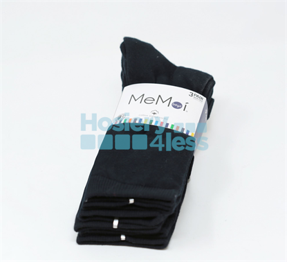 Picture of MEMOI 3 PACK FLAT SOCKS