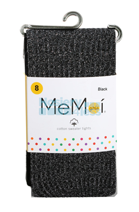 Picture of MEMOI RIBBED LUREX COTTON TIGHTS