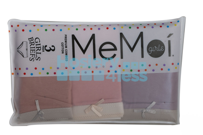Picture of MEMOI GIRLS3 PACK SOLID PANTY