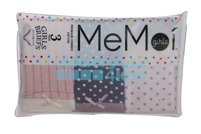 Picture of MEMOI GIRLS PRINT 3 PACK PANTY