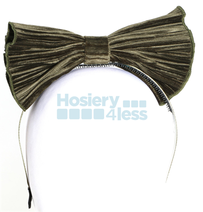 Picture of ACCORDION PLEATED VELVET BOW HEADBAND