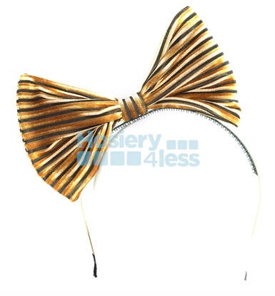 Picture of VELVET STRIPES BOW HEADBAND