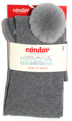 Picture of FAUX FUR POM POM TIGHTS