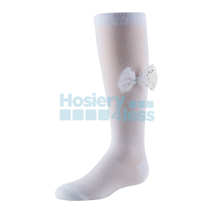 Picture of ZUBII IRIDESCENT SPARK BOW KNEE SOCK
