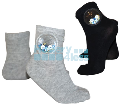 Picture of BLINQ SEQUINED STAR SMILEY SOCK