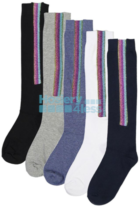 Picture of BLINQ GLITTER STRIP KNEE SOCK