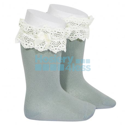 Picture of CONDOR KNEE SOCK WITH LACE & BOW
