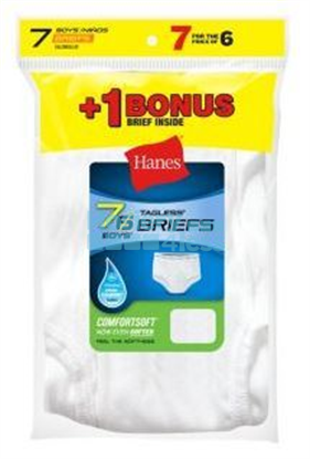 Picture of HANES BOYS WHITE 7 PACK