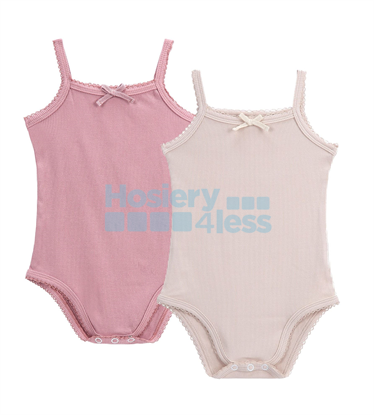 Picture of PETIT CLAIR BABY RIBBED ONESIE 2 PACK