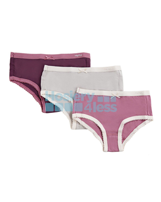 Picture of MEMOI GIRLS 3 PACK SOLID PANTY