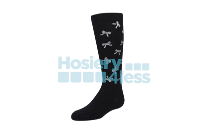 Picture of ZUBII SCATTERED GLITTERED BOWS KNEE SOCK