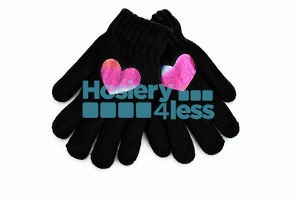 Picture of DACEE KNIT FOIL HEART GLOVES