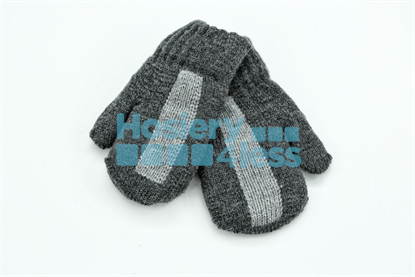 Picture of DACEE CENTER STRIPE KNIT MITTENS