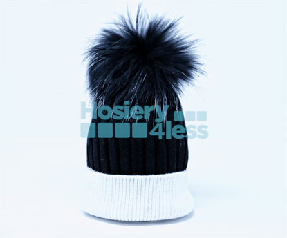 Picture of ZUBII RIBBED FOLD POMPOM HAT