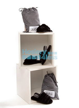 Picture of ZUBII HOUNDSTOOTH FUR SLINGBACKS