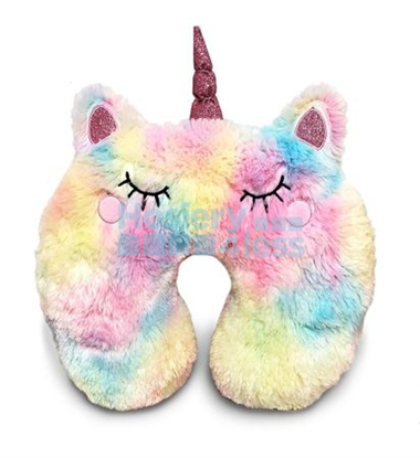 Picture of FURRY UNICORN TRAVEL PILLOW