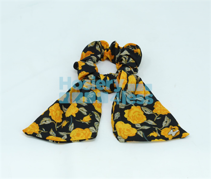 Picture of ARABELLE WINTER FLORAL SCRUNCHIE WITH SHORT TAILS