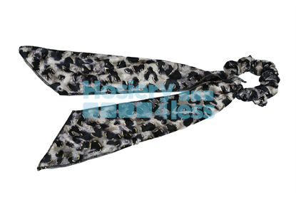 Picture of DACEE LEOPARD PRINT VELVET SCRUNCHY WITH TAILS